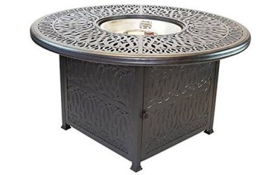 Barbados Alum Metal Fire Table