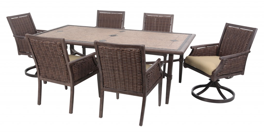 mendocino dining set 7 pc